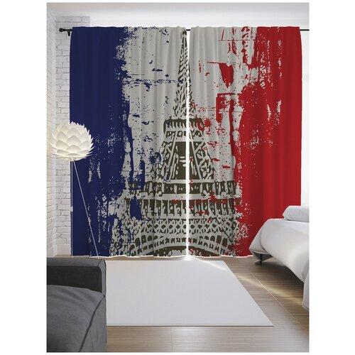 Фото - Портьеры JoyArty Эйфелева башня на флаге Франции на ленте 265 см (p-15469) портьеры миртек madras на ленте 280 см d9480 кофе смолоком