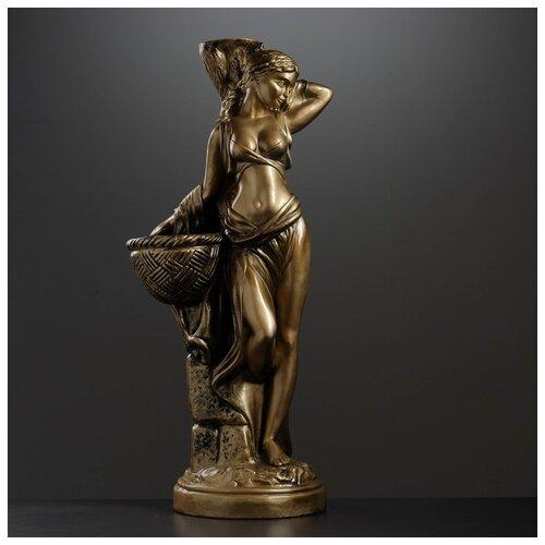 Фигура с кашпо Гречанка большая бронза 88см 4253601 фигура с кашпо гречанка большая бронза 88см 4253601
