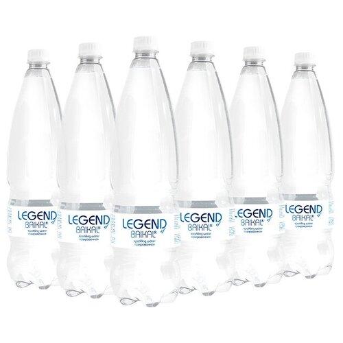Вода питьевая Legend of Baikal глубинная газированная, пластик, 6 шт. по 1.5 л недорого