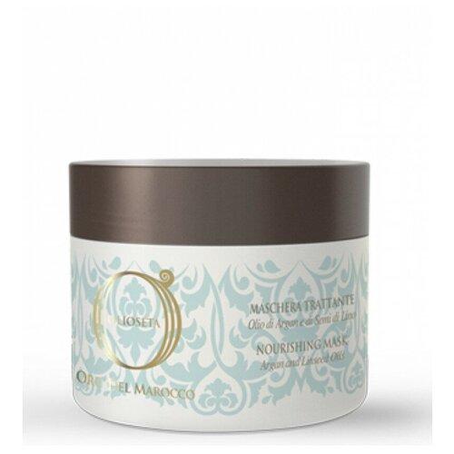 Barex Olioseta Oro del Marocco Питательная маска с маслом арганы и маслом семян льна для волос, 500 мл