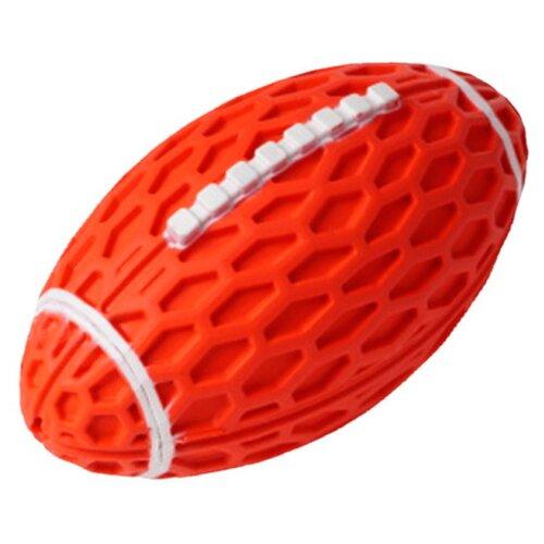 Игрушка для собак Homepet Silver Series мяч регби с пищалкой каучук красный 14,5 х 8,2 х 7,9 см (1 шт)