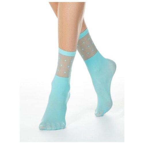 Капроновые носки Conte Elegant 19С-29СП, размер 23-25, turquoise