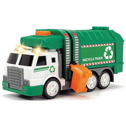 Мусоровоз Dickie Toys 3302018, 15 см, зеленый машина dickie мусоровоз 30 см
