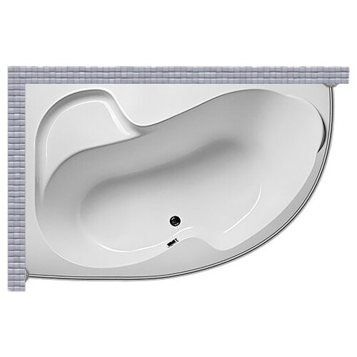 Карниз для ванной (Штанга) усиленный 20 1MarKa Imago 160x105 Асимметричный брюки imago imago mp002xw198en