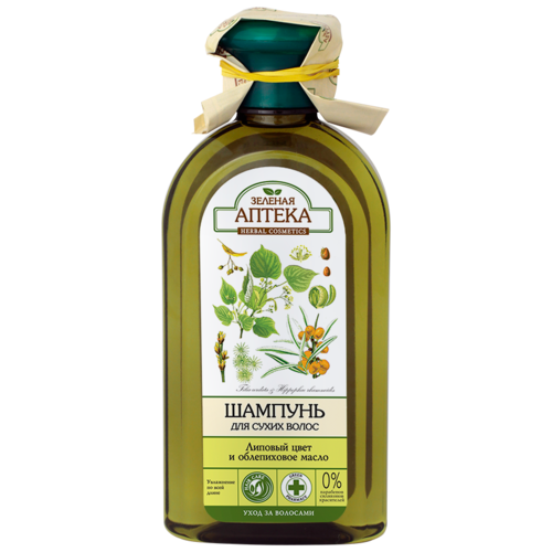 Зелёная Аптека шампунь для волос Липовый цвет и облепиховое масло, 350 мл