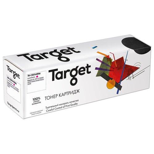 Фото - Тонер-картридж Target CEXV49M, пурпурный, для лазерного принтера, совместимый тонер картридж target cf543a пурпурный для лазерного принтера совместимый