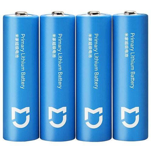 Фото - Батарейки Xiaomi Mijia Super Battery 2900 mAh AA (4 шт.) Синие xiaomi mi power bank 2c 20000 mah