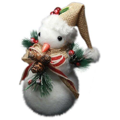 Рождественская декоративная фигурка Снеговик, 10х21 см