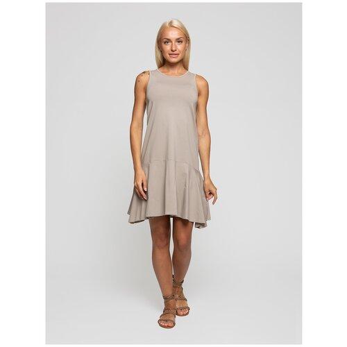 Женское легкое платье сарафан, Lunarable темно-бежевое, размер 48