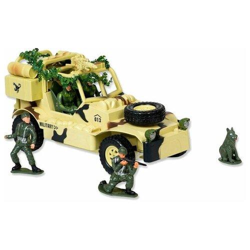 Купить Внедорожник Mioshi военный (MAR1207-006) 30 см бежевый/зеленый, Радиоуправляемые игрушки