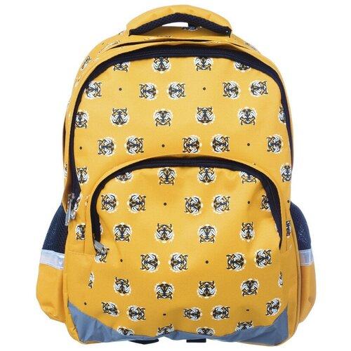 Купить Рюкзак школьный №1School Tigers желтый, №1 School, Рюкзаки, ранцы