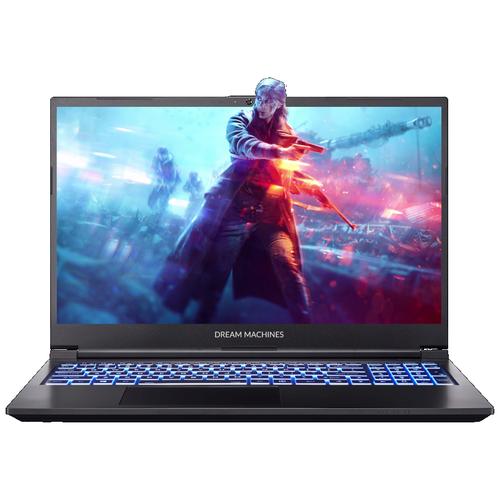 """Ноутбук Dream Machines G1650Ti-15RU66 (Intel i7-10750H/15.6""""/1920x1080/16 GB/500GB M.2 SSD/Nvidia GTX1650Ti 4 GB/Без ОС) G1650Ti-15RU66 черный"""