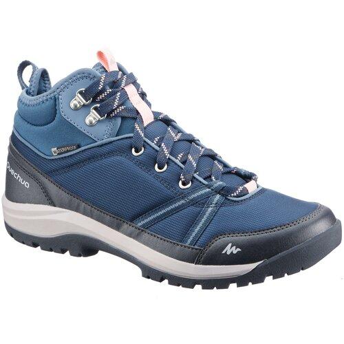 Ботинки водонепроницаемые для походов на природе женские NH150 Mid WP, размер: 41, цвет: Синий QUECHUA Х Декатлон