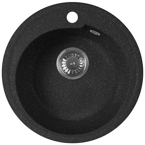 Фото - Врезная кухонная мойка 44 см А-Гранит M-45 черный врезная кухонная мойка 47 5 см а гранит m 05 красный марс