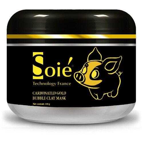 Купить SOIE Нежно-золотая очищающая пузырьковая маска Carbonated Gold Bubble Clay Mask, 100 мл