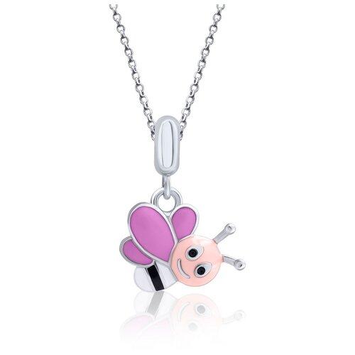 UMa & UMi Детский серебряный кулон подвеска Веселая пчелка UMI Fly 319565500611