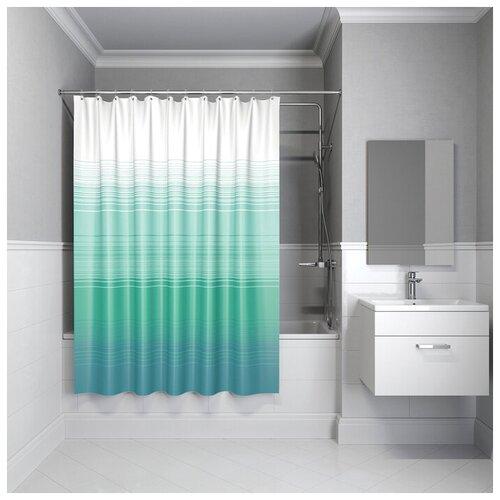 Фото - Штора для ванной IDDIS 301P20RI11 200x200 синий штора для ванны iddis cream balls 200x200 бежевая