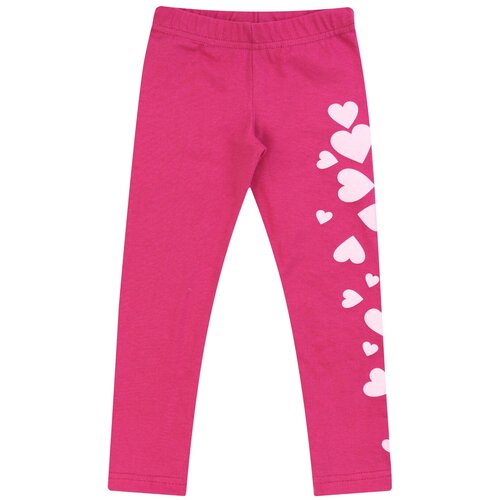 Купить Брюки для девочки Б-1915, Утенок, размер 52(рост 86-92 см) малина сердце, Брюки и шорты