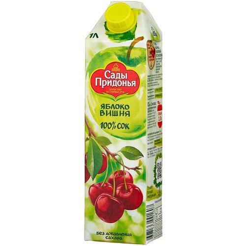 Фото - Сок Сады Придонья Яблоко-Вишня, с крышкой, без сахара, 1 л сок сады придонья яблоко виноград осветленный 500 мл