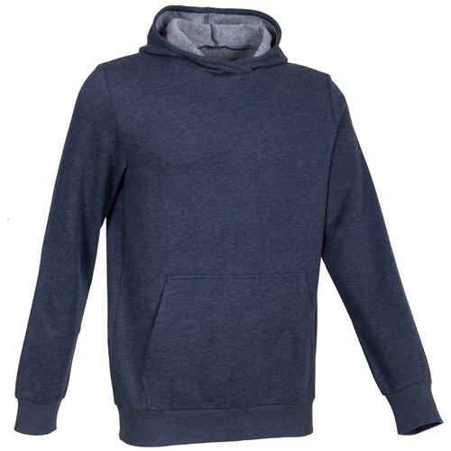Толстовка с капюшоном для фитнеса, карман кенгуру, размер: M, цвет: Угольный Серый DOMYOS Х Декатлон
