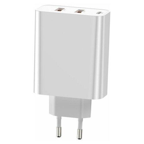 Фото - Сетевое зарядное устройство быстрое Baseus PD 3.0+QC 4+ 2xUSB+USB Type-C Baseus Speed PPS Three Output 60W - Белое (CCFS-G02) сетевое зарядное устройство anker powerport pd 4 100w 2xusb 2xusb c белое