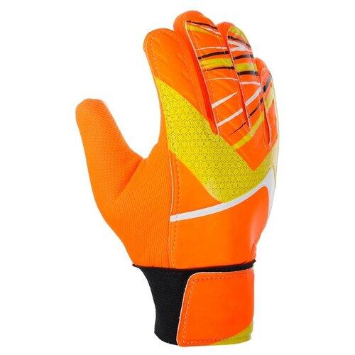 Перчатки вратарские, размер 6, цвет оранжевый 3912365