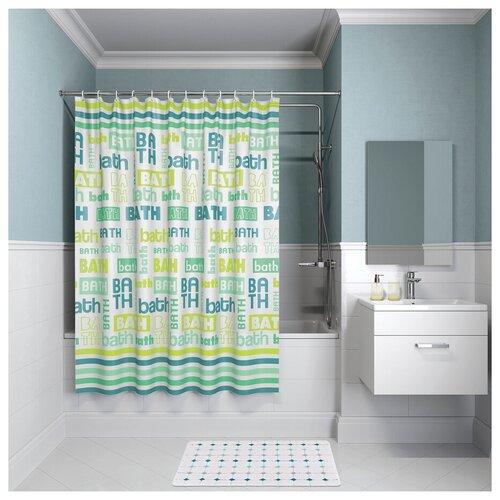 Фото - Штора для ванной комнаты, 200*180см, полиэстер, B19P218i11, IDDIS штора для ванной комнаты iddis basic b19p218i11