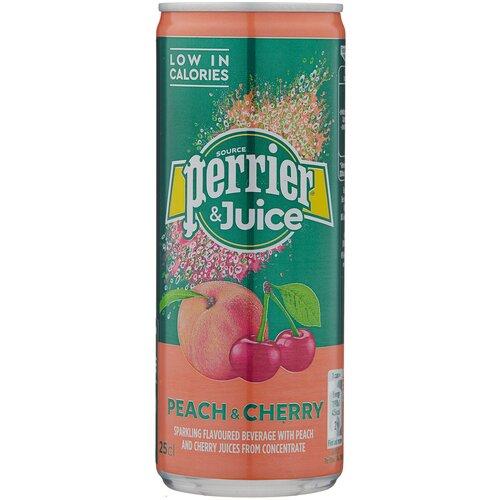 Газированный напиток Perrier персик и вишня, 0.25 л