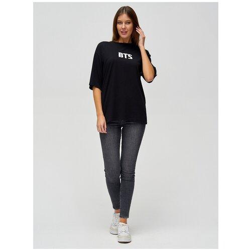 Женские футболки с надписями Черный, 48