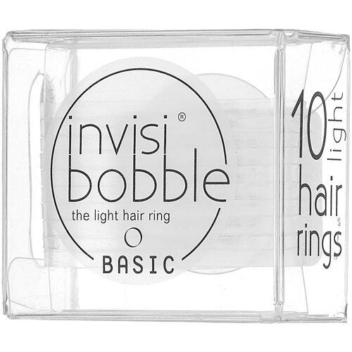 Резинка Invisibobble BASIC 10 шт. crystal clear  - Купить