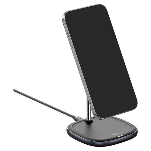 Фото - Беспроводная зарядка Baseus Swan Magnetic Desktop Bracket Wireless Charger (suit для iPhone 12) Черный WXSW-01 беспроводная сетевая зарядка baseus silicone horizontal desktop wireless charger черный