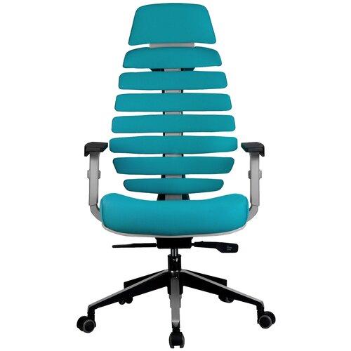 Компьютерное кресло Рива SHARK офисное, обивка: текстиль, цвет: лазурный компьютерное кресло рива 8074 офисное обивка текстиль искусственная кожа цвет оранжевый