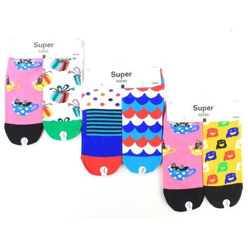 Женские носки Super Socks LTB-110 хлопок р 37-43 5 пар