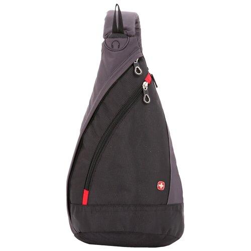 Фото - Рюкзак SWISSGEAR с одним плечевым ремнем, черный/серый, 25x15x45 см, 7 л рюкзак swissgear 32x15x46 см 22 л черный