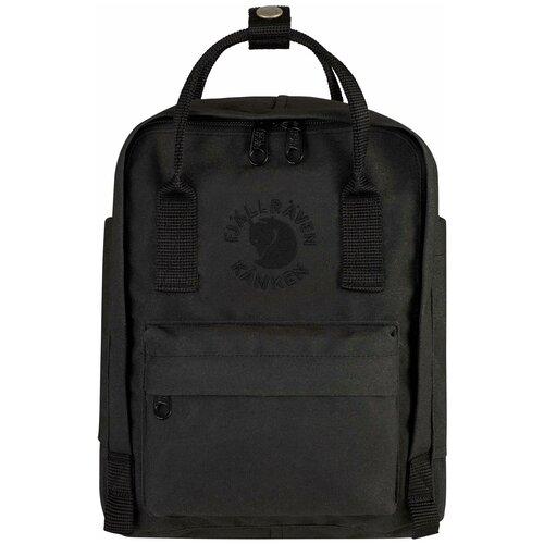 Городской рюкзак Fjallraven Re-Kånken Mini 7, черный городской рюкзак fjallraven re kånken 16 un blue