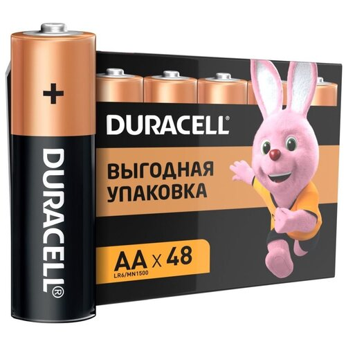 Батарейка Duracell Basic AA, 48 шт. батарейка duracell basic aa 6 шт блистер