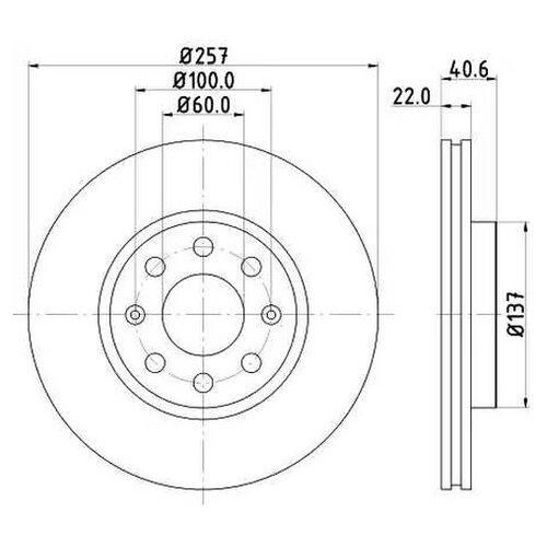 Тормозной диск Mintex MDC1735C