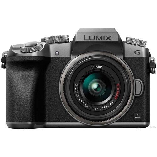 Фотоаппарат Panasonic Lumix DMC-G7 Kit серебристый 14-42mm f/3.5-5.6