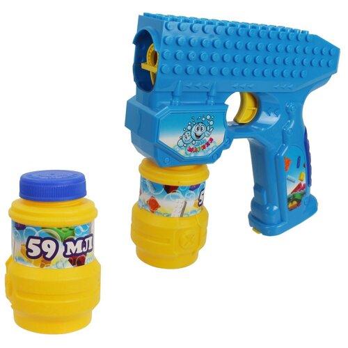 Набор для пускания мыльных пурырей 1 TOY Мы шарики! 118 мл Т15065 синий/желтый