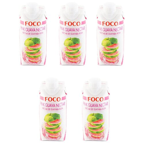 Фото - Нектар FOCO розовая гуава, 0.33 л, 5 шт. нектар juicer облепиха без сахара 0 25 л 10 шт