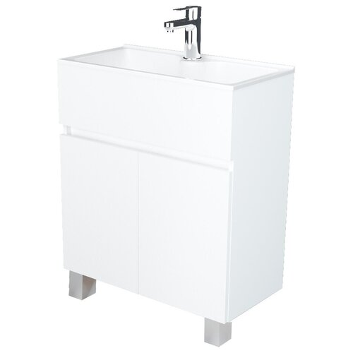 Фото - Тумба для ванной комнаты с раковиной 1Marka Mira Н, ШхГхВ: 60х30х85 см, цвет: белый глянец тумба для ванной комнаты с раковиной am pm like напольная шхгхв 80х45х85 см цвет белый глянец
