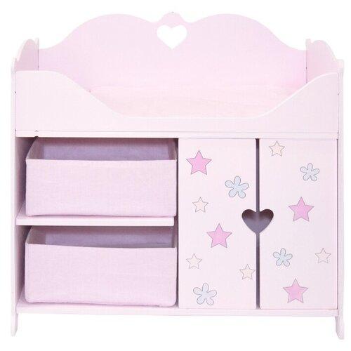 Купить PAREMO Кроватка-шкаф Мимими Мини Крошка Соня (PRT120-02M) розовый, Мебель для кукол