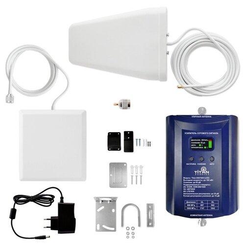 Комплект Усиления сотового сигнала (Репитер) 3G GSM 900 LTE GSM 1800 Мгц Titan 900/1800 (LED)