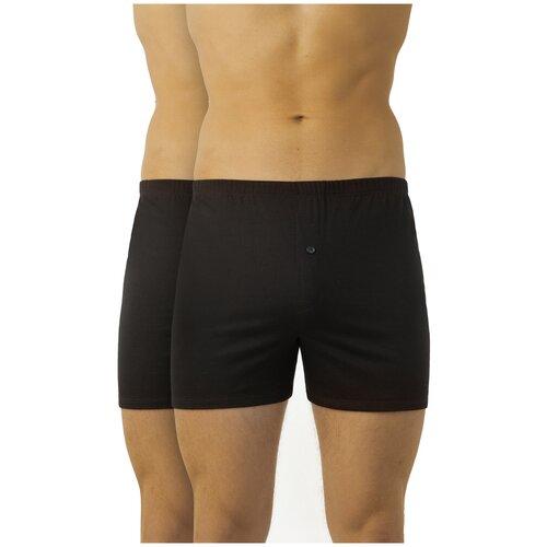 Фото - IDILIO Набор трусов шорты, 2 шт., размер XL(50), черный idilio набор трусов боксеры 2 шт размер l 48 серый черный