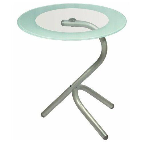 Фото - Стол журнальный Дуэт 5 металлик/ прозрачное стол журнальный дуэт 6 металлик прозрачное