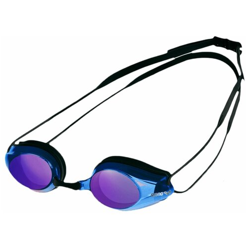 Фото - Очки для плавания arena Tracks Mirror 92370, black/blue multi/black очки для плавания arena zoom neoprene 92279 black clear black