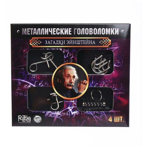 Купить Головоломка металлическая «Загадки Эйнштейна», набор 4 шт., ЭВРИКИ, Игровые наборы и фигурки