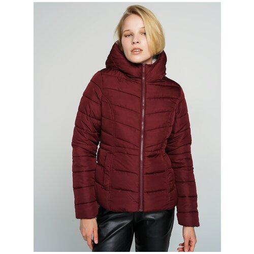 Куртка на синтепоне ТВОЕ A6567 размер S, бордовый, WOMEN