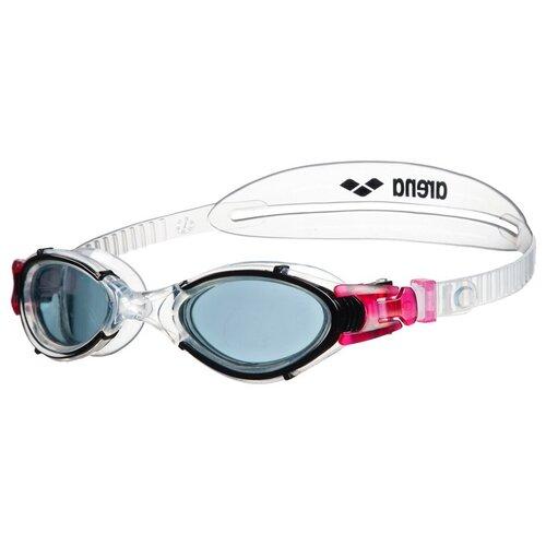 Фото - Очки для плавания arena Nimesis Crystal Woman, smoke-clear-black очки для плавания arena zoom neoprene 92279 black clear black