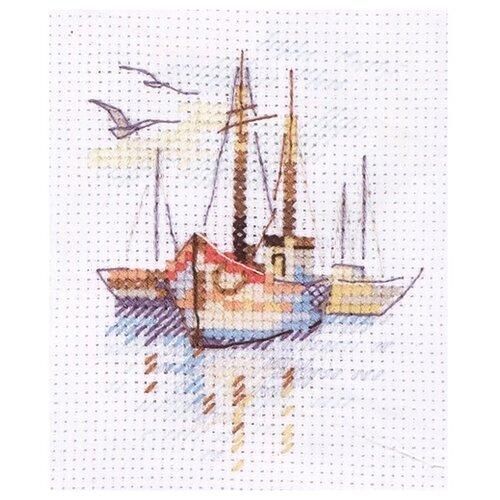 Купить 0-196 Набор для вышивания АЛИСА 'Лодки на рассвете' 6*9см, Алиса, Наборы для вышивания